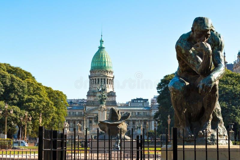 Congreso de la Nacion Argentina, in Buenos Aires Argentina. Denkmal vor dem Congreso de la Nacion Argentina, in Buenos Aires Argentina stock photography