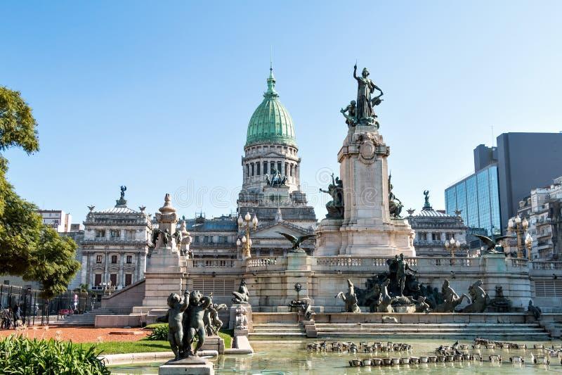 Congreso DE La Nacion Argentinië, in Buenos aires stock foto