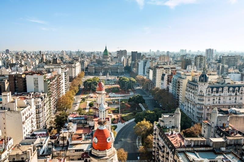 Congreso DE La Nacion Argentinië, in Buenos aires Argentinië royalty-vrije stock foto's