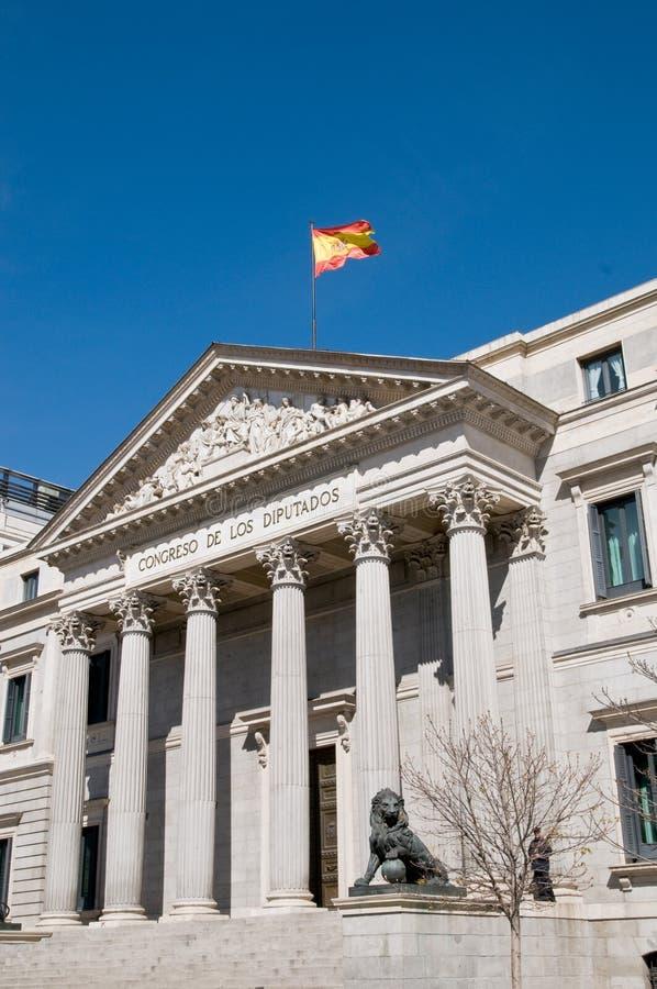 'Congreso de los diputados' building, Madrid. Facade of 'Congreso de los diputados' building, Madrid stock image