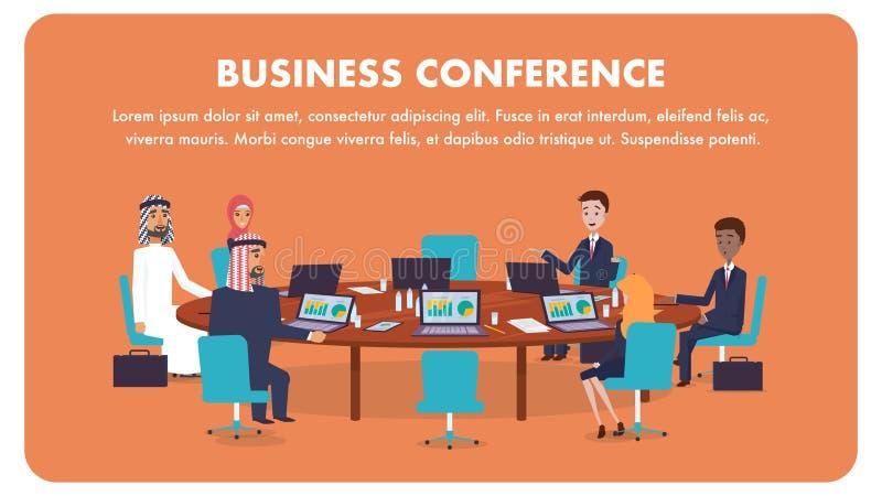 Congreso de negocios internacional del ejemplo libre illustration