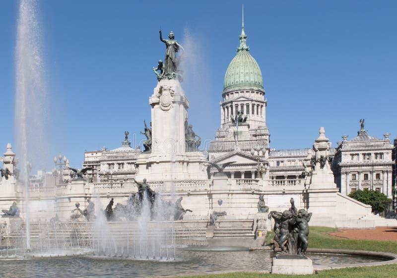 Congreso Nacional. The Congress of the Argentine Nation (Spanish: Congreso de la Nación Argentina) is the legislative branch of the government of Argentina royalty free stock photo