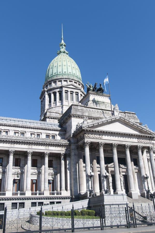 Congreso Nacional. The Congress of the Argentine Nation (Spanish: Congreso de la Nación Argentina) is the legislative branch of the government of Argentina royalty free stock image