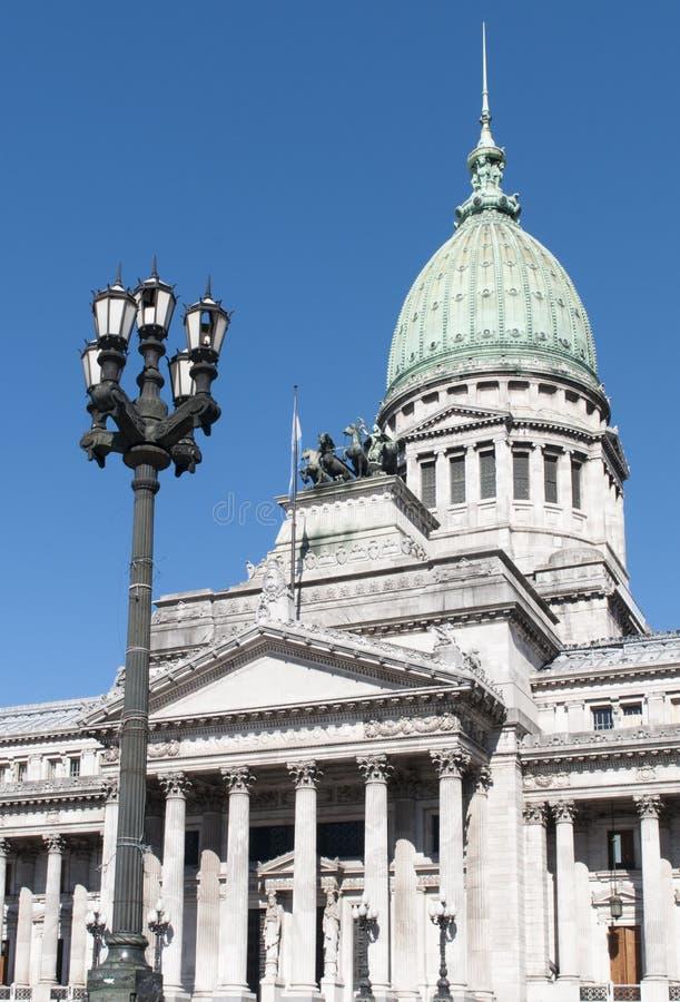 Congreso Nacional. The Congress of the Argentine Nation (Spanish: Congreso de la Nación Argentina) is the legislative branch of the government of Argentina royalty free stock photography
