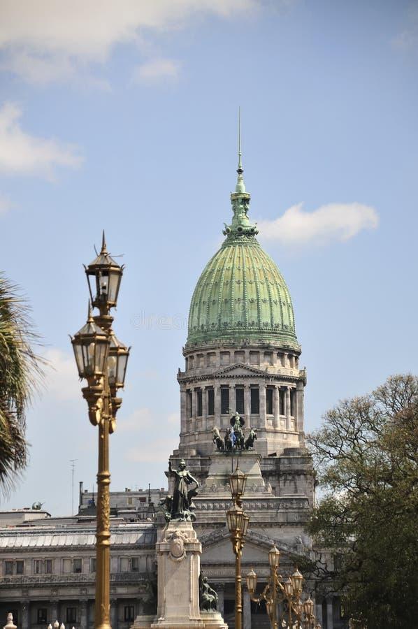 Congreso Nacional, Buenos Aires. Congreso Nacional in Buenos Aires, Capital of Argentina stock photo