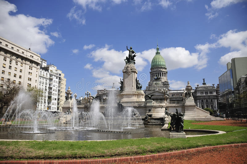 Congreso Nacional, Buenos Aires. Congreso Nacional in Buenos Aires, Capital of Argentina royalty free stock image