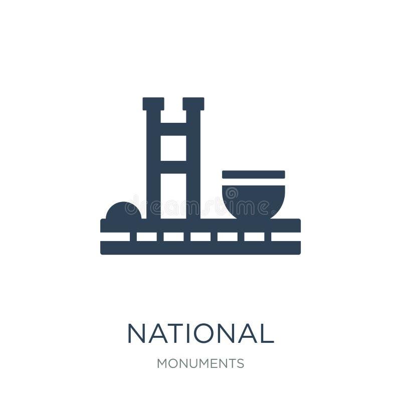 congreso nacional del icono del Brasil en estilo de moda del diseño congreso nacional del icono del Brasil aislado en el fondo bl stock de ilustración