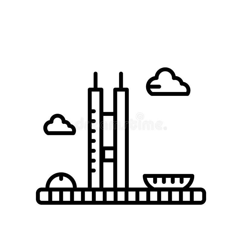 Congreso nacional del vector del icono del Brasil aislado en el fondo blanco, congreso nacional de la muestra del Brasil, línea o stock de ilustración