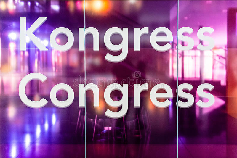 Congresruimte stock fotografie