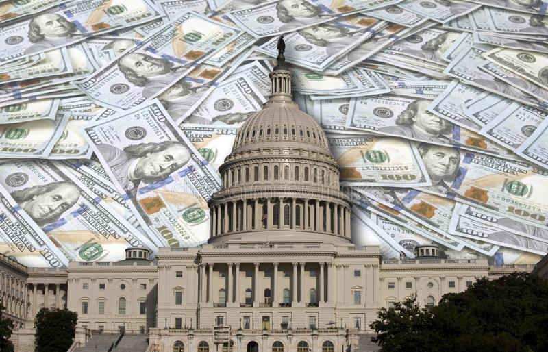 Congress Spending Your Money. Congress spending and wasting your money royalty free stock image