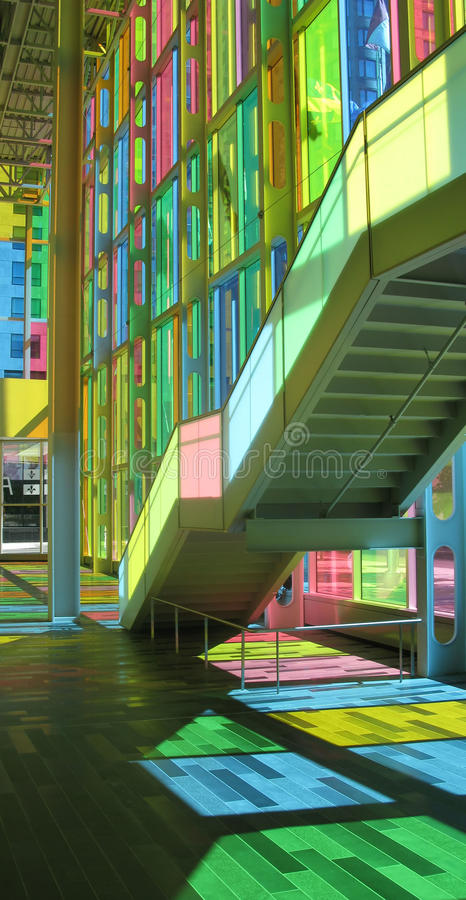 congress stair in montreal stock photography