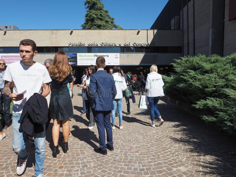 Congressi för dei för Palazzo dellacultura e i bolognaen royaltyfri bild