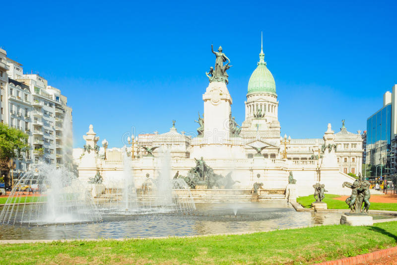 Congressional Plaza, Buenos Aires royalty free stock photos