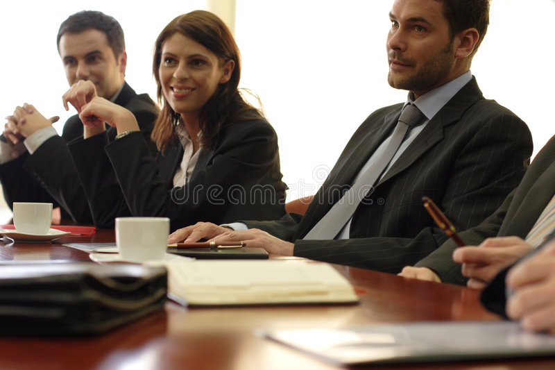 Congressional staff meeting royalty free stock images
