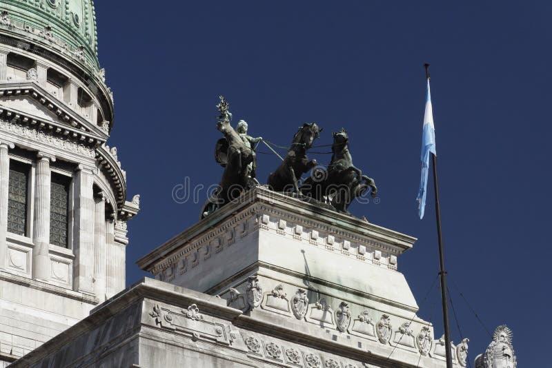 Congresso - Buenos Aires fotografia de stock