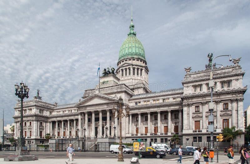 Congresso che costruisce Buenos Aires Argentina fotografia stock libera da diritti