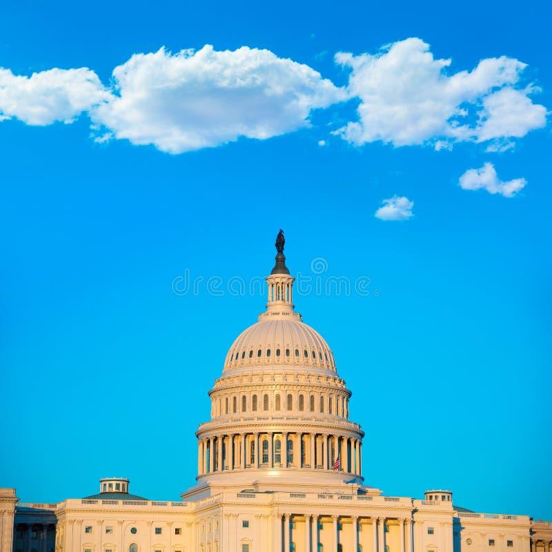 Congresso dos E.U. do Washington DC da abóbada da construção do Capitólio imagens de stock