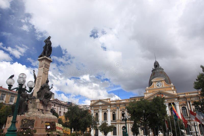 Congresso no La Paz, Bolívia fotos de stock