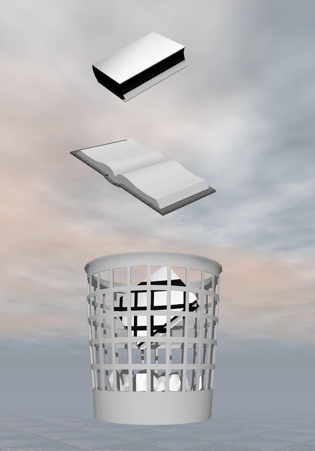 Conhecimento aos desperdícios - 3D rendem ilustração do vetor