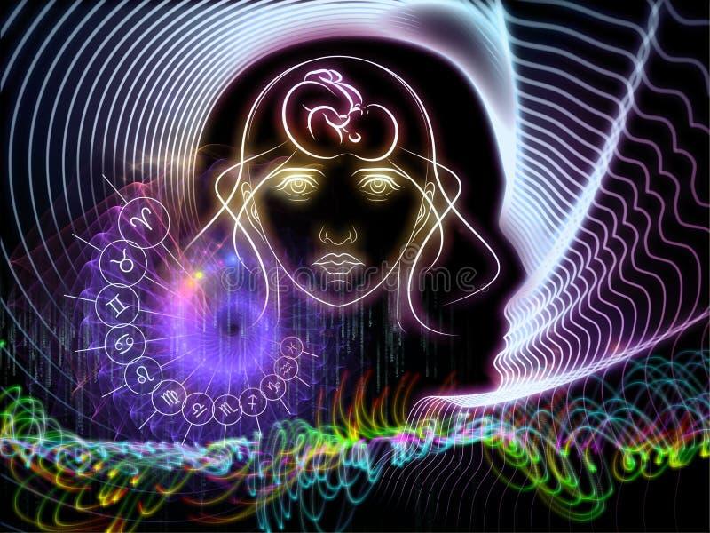 Conhecimento astral ilustração stock