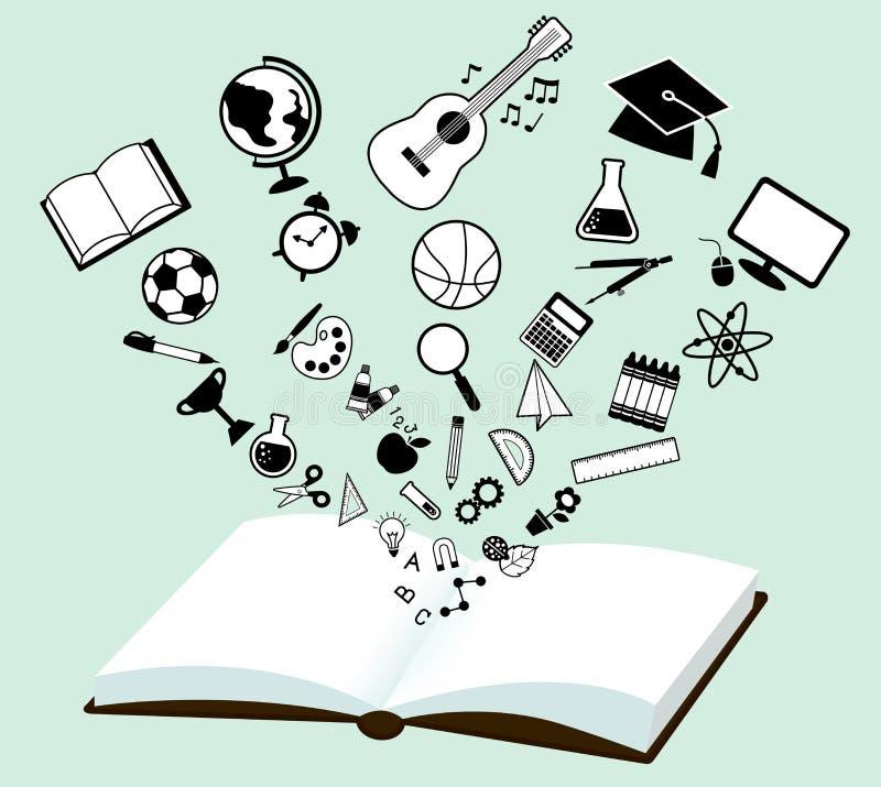 conhecimento da leitura ilustração do vetor