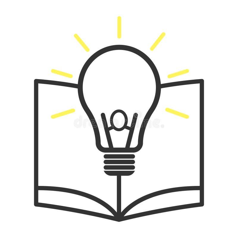 Conhecimento do ícone do produto isolado no fundo branco ilustração do projeto do vetor ilustração royalty free