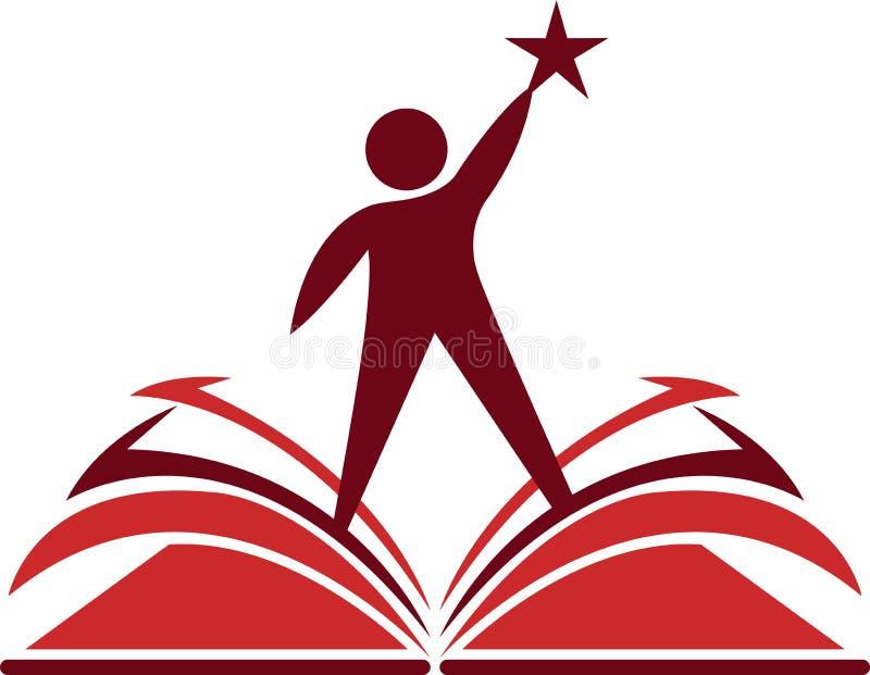 Conhecimento do livro do alvo ilustração royalty free