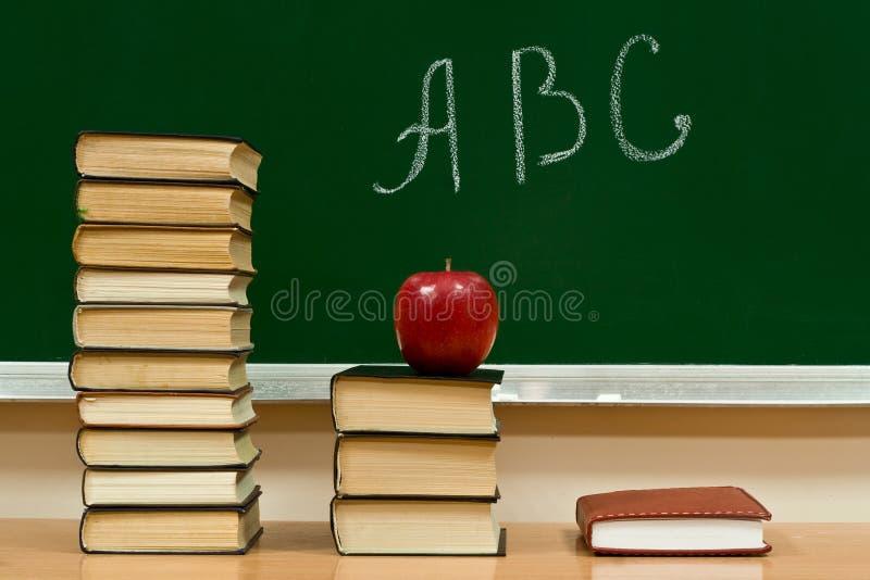 Conhecimento e alfabeto imagem de stock