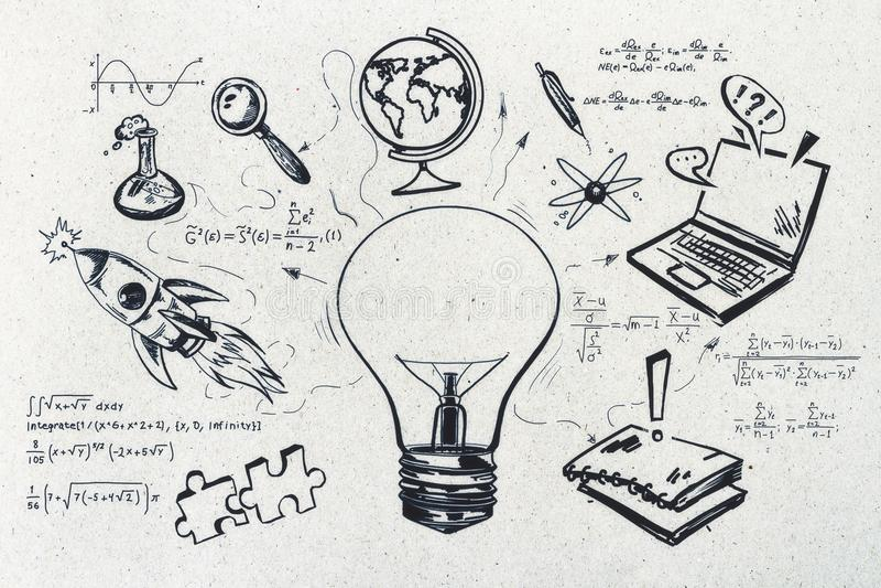 Conhecimento e conceito da ciência foto de stock royalty free