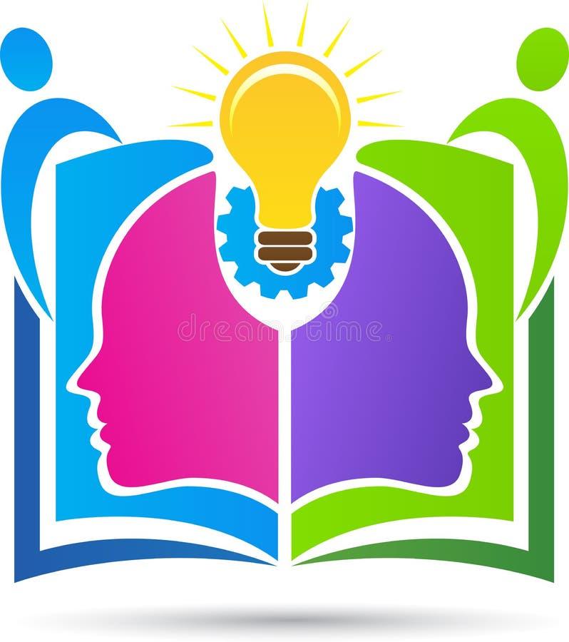 Conhecimento que compartilha do logotipo do centro ilustração royalty free