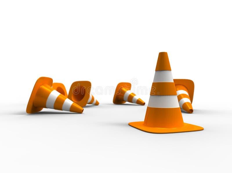 Coni di traffico illustrazione di stock