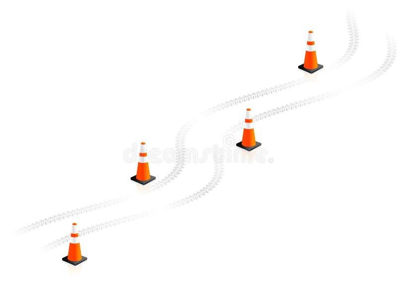 Coni di traffico illustrazione vettoriale