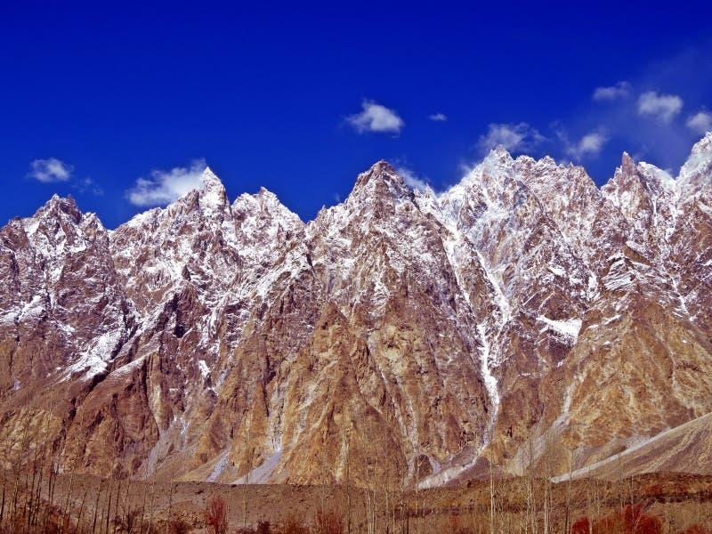 coni famosi di Passu, Pakistan del Nord immagini stock libere da diritti