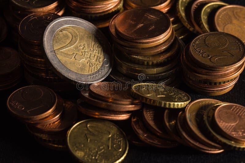 Coni la pila, raccolta di moneta fotografie stock libere da diritti