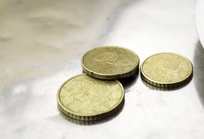 Conia l'euro centesimo fotografie stock libere da diritti