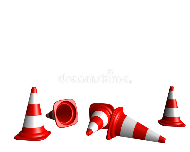 Conical landmark stock illustration