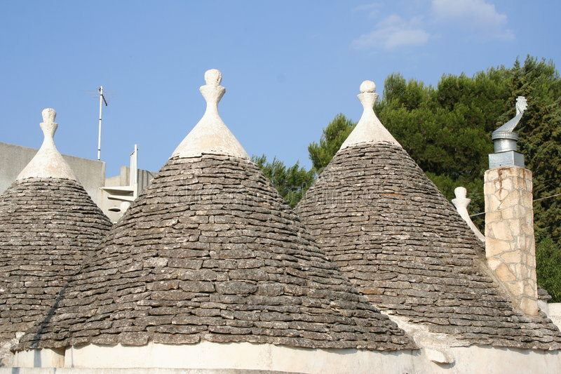 Conical roofs 2 stock photography