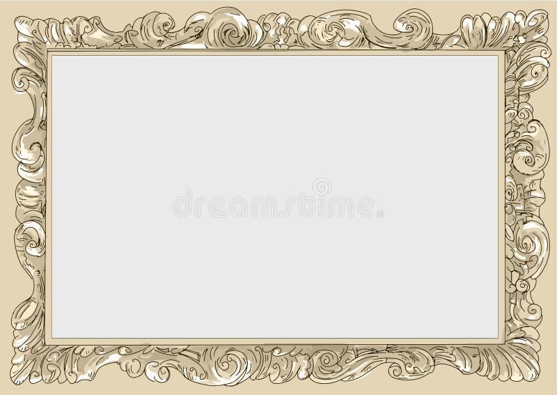 Conice κρέμας για τη ζωγραφική ή τα εκλεκτής ποιότητας σύνορα πλαισίων καρτών αναδρομική απεικόνιση αποθεμάτων