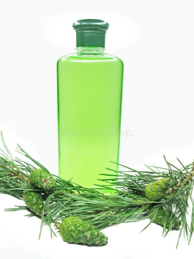 Coniferous Green Shampoo Royalty Free Stock Image