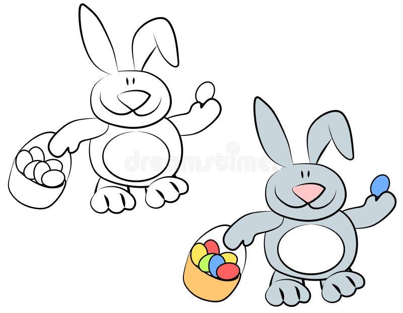 Conigli di coniglietto sorridenti di pasqua del fumetto - Lettere stampabili del coniglietto di pasqua ...