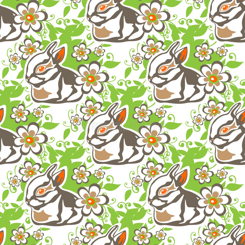 Conigli senza cuciture di pasqua illustrazione di stock
