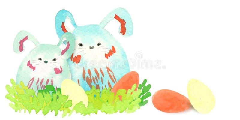 Coniglietti di pasqua royalty illustrazione gratis
