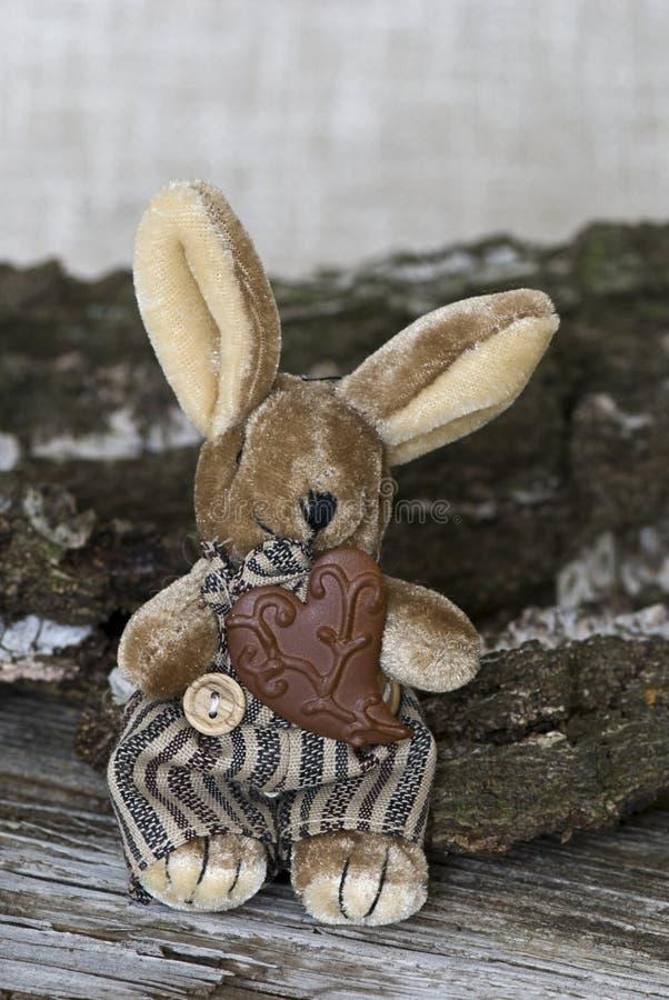 Coniglietti di pasqua d'annata degli animali farciti fotografia stock libera da diritti