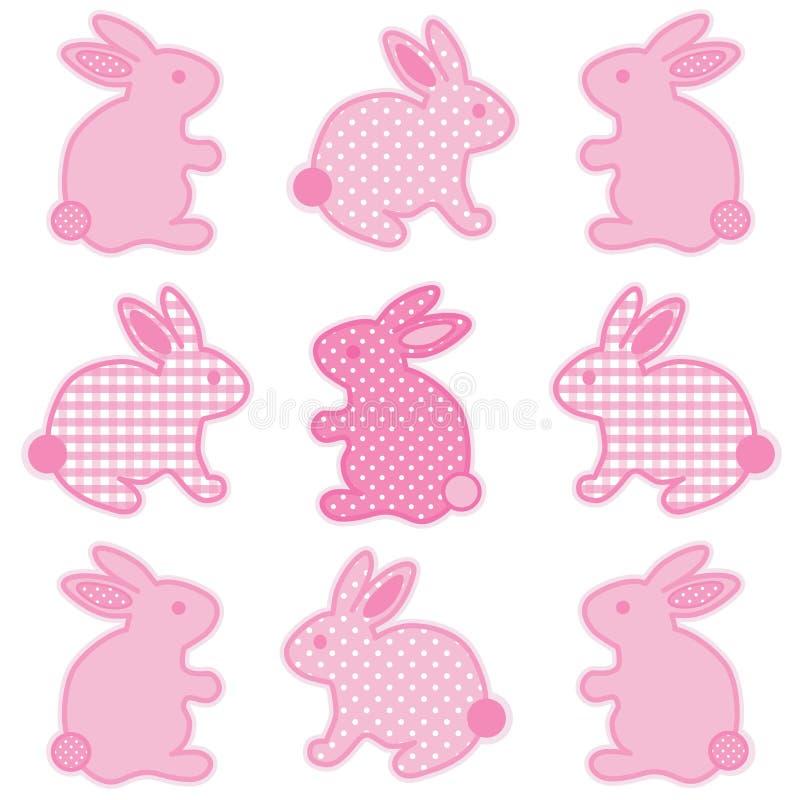 Coniglietti di pasqua del bambino illustrazione di stock