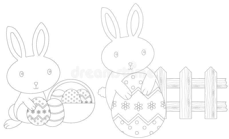 Coniglietti di pasqua di coloritura