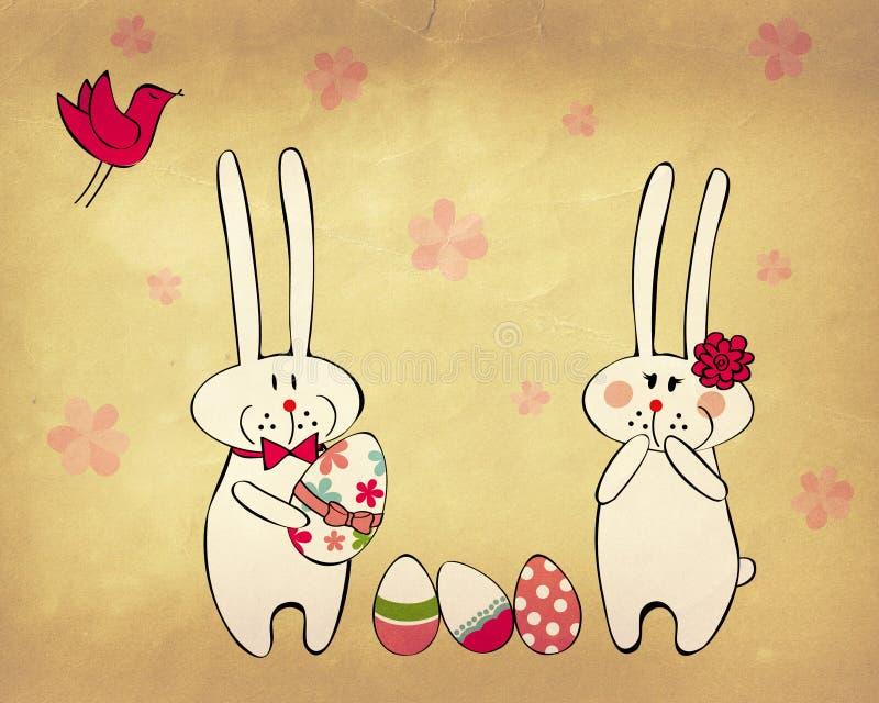 Coniglietti di pasqua divertenti royalty illustrazione gratis