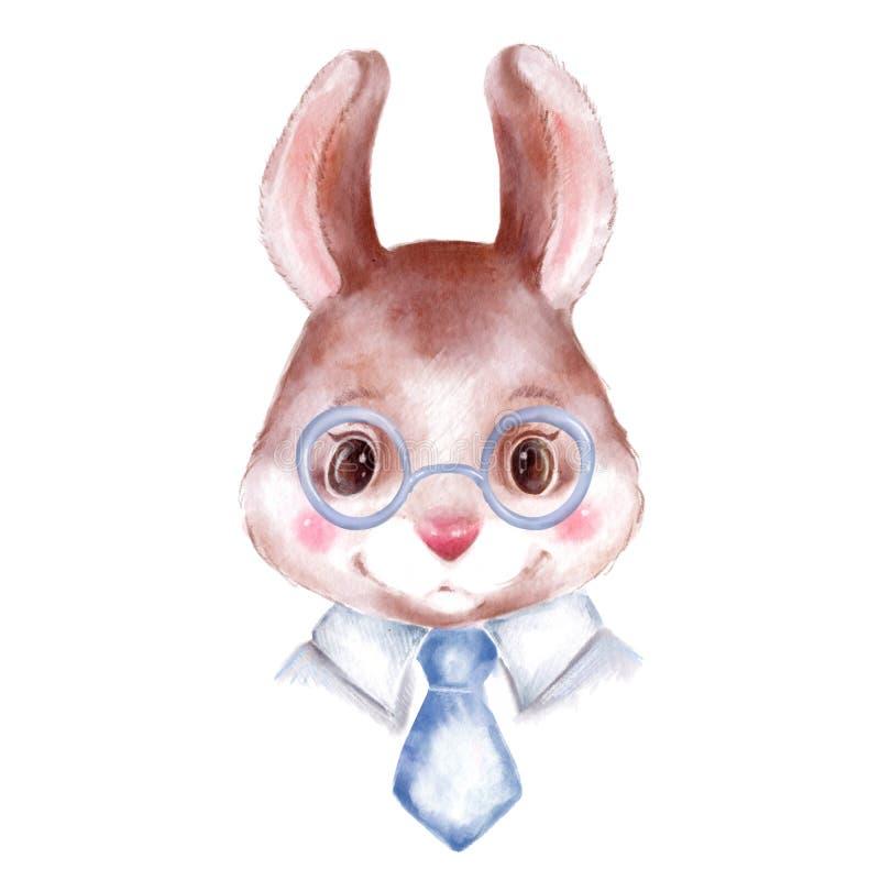 Coniglietto agghindato nello stile dell'ufficio illustrazione di stock
