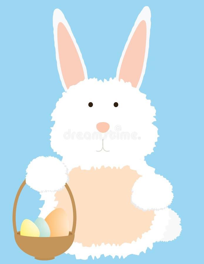 Coniglietto con il cestino illustrazione di stock