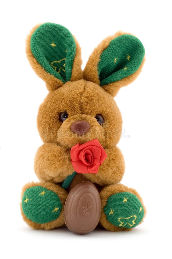 Coniglietto con l'uovo di cioccolato immagine stock libera da diritti