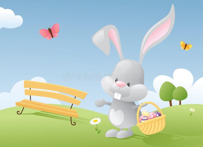 Coniglietto dell'uovo royalty illustrazione gratis